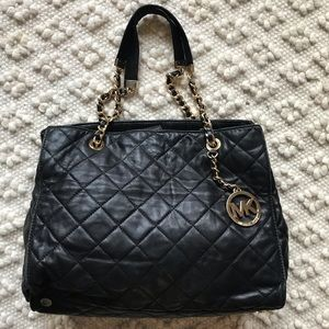 Michael Kors Susannah Black Quilted Tote